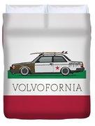 Volvofornia Slammed Volvo 242 240 Coupe California Style Duvet Cover