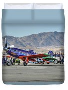Voodoo Engine Start Sunday Gold Unlimited Reno Air Races Duvet Cover