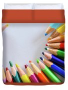 Vortex Of Colored Pencils Duvet Cover