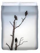Vultures Perched In A Dead Tree Duvet Cover