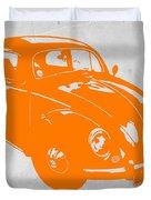 Vw Beetle Orange Duvet Cover
