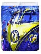 Vw Bus Blue Duvet Cover