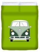Vw Bus Green Duvet Cover
