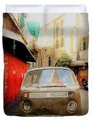 Vw Bus Parked In Basta Beirut  Duvet Cover