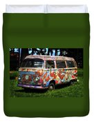 Vw Psychedelic Microbus Duvet Cover