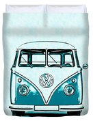 Vw Van Graphic Artwork Duvet Cover