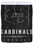 Arizona Cardinals Art - Nfl Football Wall Print Duvet Cover by Damon Gray