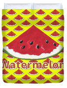W Is For Watermelon Duvet Cover