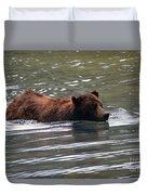 Wading Brown Bear Duvet Cover