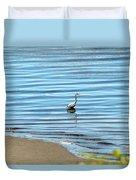Wading Heron Duvet Cover