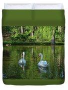 Wagner Vinyard Estate Swans Finger Lakes Lodi Ny Duvet Cover