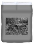 Wagon In The Woods Duvet Cover