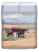 Wagon Of The West Duvet Cover