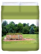 Wagon With Flowers Duvet Cover