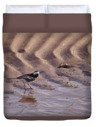 Wagtail On West Sands Duvet Cover