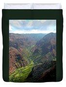 Waiamea Canyon Kauai Duvet Cover