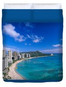 Waikiki And Diamond Head Duvet Cover