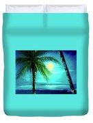 Waikiki Beach Moon #22 Duvet Cover