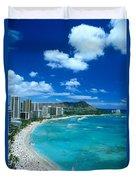 Waikiki Beach Duvet Cover