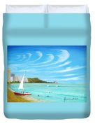 Waikiki Duvet Cover by Jerome Stumphauzer