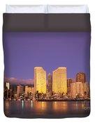 Waikiki Skyline Duvet Cover