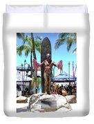 Waikiki Statue - Duke Kahanamoku Duvet Cover