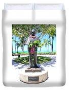 Waikiki Statue - Prince Kuhio Duvet Cover
