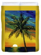 Waikiki Sunset #38 Duvet Cover