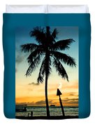 Waikiki Sunset Duvet Cover