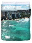 Waikiki To Diamond Head Duvet Cover