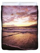 Wailea Beach At Sunset Duvet Cover