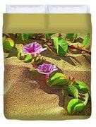 Wailea Beach Morning Glory With Honeybee Duvet Cover