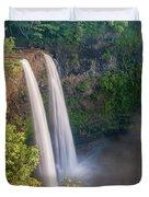 Wailua Falls - Kauai Hawaii Duvet Cover