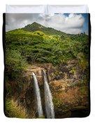 Wailua Falls Kauai I Duvet Cover