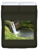 Wailua Falls, Kauai Duvet Cover