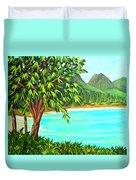 Waimanalo Beach Oahu #385 Duvet Cover