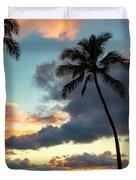 Waimea Beach Sunset 3 - Oahu Hawaii Duvet Cover