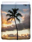 Waimea Beach Sunset - Oahu Hawaii Duvet Cover
