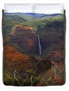 Waimea Canyon Waterfall Duvet Cover