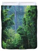 Waimoku Falls Duvet Cover