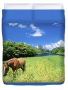 Wainiha Valley Duvet Cover by Peter French - Printscapes