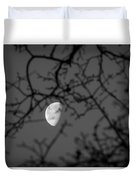 Waning Black And White Duvet Cover