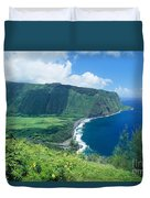 Waipio Valley Lookou Duvet Cover