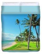 Waipuilani Beach Kihei Maui Hawaii Duvet Cover