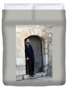 Waiting At The Door Duvet Cover
