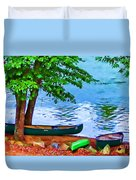 Waiting By The River Duvet Cover