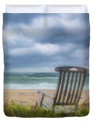 Waiting For Sunrise On The Dunes Duvet Cover