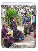 Waiting For The Karmappa Lama Duvet Cover