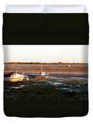 Waiting For The Tide Duvet Cover by Trevor Wintle