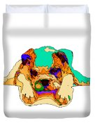 Waiting For You. Dog Series Duvet Cover